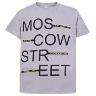 """11-10130118 """"Moscow"""" футболка для мальчиков, 10-13 лет, серый"""