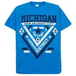"""11-10130119 """"Michigan"""" футболка для мальчиков, 10-13 лет, голубой"""