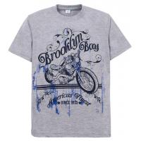 "11-10130120 ""Brooclyn Boy"" футболка для мальчиков, 10-13 лет, серый"