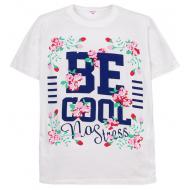 """11-10130201 """"Be Cool"""" футболка для девочек, 10-13 лет, белый"""