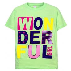 """11-10130201 """"Wonderful"""" футболка для девочек, 10-13 лет, мятный"""