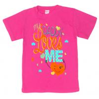 11-140201 Футболка для девочки, 1-4 года, т-розовый