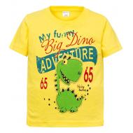 """11-250102 """"Adventure"""" Футболка для мальчика, 2-5 лет, желтый"""