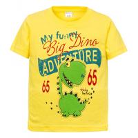 """11-140152 """"Adventure"""" Футболка для мальчика, 2-5 лет, желтый"""