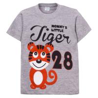 "11-140153 ""Tiger 28"" Футболка дя мальчика, 2-5 лет, меланж"