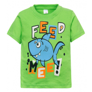 "11-250104 ""Feed Mee"" Футболка для мальчика, 1-4 года, салатовый"