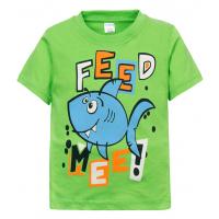 "11-140154 ""Feed Mee"" Футболка для мальчика, 2-5 лет, салатовый"
