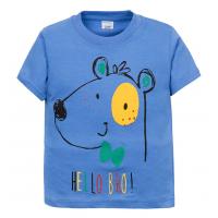 """11-140156 """"Bear"""" Футболка для мальчика, 2-5 лет, голубой"""