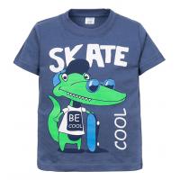 """11-140157 """"Skate """" Футболка для мальчика, 2-5 лет, индиго"""