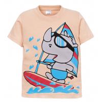 """11-140158 """"Funny surfer"""" Футболка для мальчика, 2-5 лет, бежевый"""