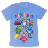 "11-140161 ""Space Robots"" Футболка, 1-4 года, голубой"