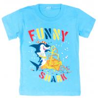 "11-140163 ""Funny Shark"" Футболка, 1-4 года, бирюзовый"