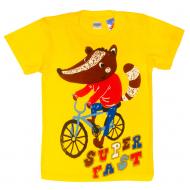 """11-140164 """"Cyclist"""" Футболка, 1-4 года, желтый"""