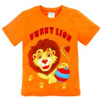 """11-140166 """"Funny Lion"""" Футболка, 1-4 года, оранжевый"""