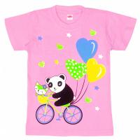 "11-140212 ""Panda"" Футболка, 1-4 года, розовый"