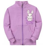 """11-141202 """"Bunny"""" Толстовка на молнии, 1-4 года, сиреневый"""