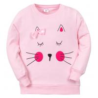 "11-141209 ""Little face"" Джемпер для девочки, 1-4 года, розовый"