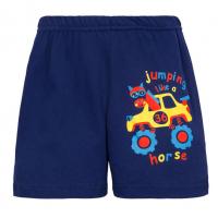 """11-141405 """"JUMPING HORSE"""" шорты для мальчиков, 1-4 года, т-синий"""