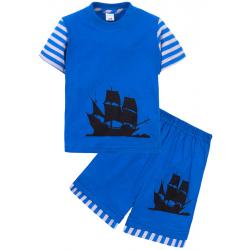 """11-142111 """"ПАРУСНИК"""" Комплект для мальчика,1-4 года, голубой"""