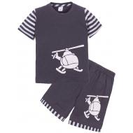 """11-142115 """"ВЕРТОЛЕТ"""" Комплект для мальчика,1-4 года, т-серый"""
