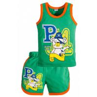 """11-143121 """"Pirate"""" комплект майка+шорты, 1-4 года, зеленый"""