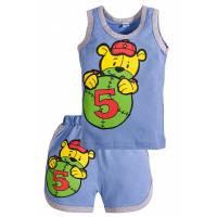 """11-143125 """"Ball 5"""" комплект майка+шорты, 1-4 года, голубой"""