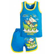 "11-143127 ""Sailor"" комплект майка+шорты, 1-4 года, бирюзовый"