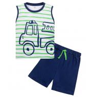 """11-143134 """"Грузовичок"""" Костюм для мальчика, 1-4 года, зеленый"""