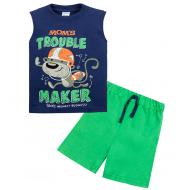 """11-143138 """"Maker ddarck"""" Костюм для мальчика, 1-4 года, синий\зеленый"""