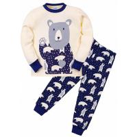 """11-148141 """"Мишка"""" Пижама для мальчика 1-4 года, молочный"""