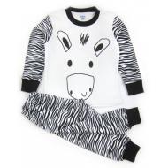 "11-148150 ""Safari zebra"" Пижама для мальчика, 1-4 года, молочный"