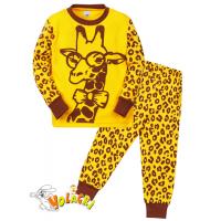 "11-148152 ""Safari giraffe"" Пижама для мальчика, 1-4 года, желтый"