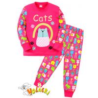"""11-148251 """"Cats"""" Пижама для девочки, 1-4 года, малиновый"""