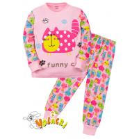 """11-148254 """"Cats"""" Пижама для девочки, 1-4 года, розовый"""