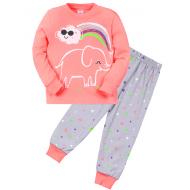 """11-148256 """"The rainbow"""" Пижама для девочки, 1-4 года, коралловый"""