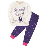 """11-148257 """"Ballet dancer"""" Пижама для девочки, 1-4 года, молочный"""