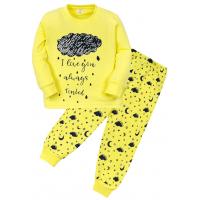 """11-148258 """"Тучка"""" Пижама для девочки, 1-4 года, желтый"""