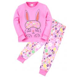 """11-148259 """"Bunny"""" Пижама для девочки, 1-4 года, розовый"""