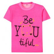 "11-250205 ""Be you tiful"" Футболка для девочки, 2-5 лет"