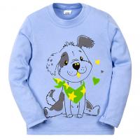 11-251144 Лонгслив для мальчика, 2-5 лет, голубой