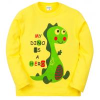 11-251145 Лонгслив для мальчика, 2-5 лет, желтый