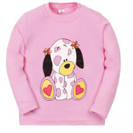 11-251290 Лонгслив для девочки, 80-98, розовый