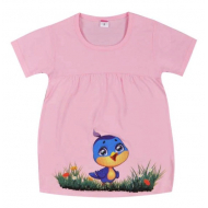 """11-258099 """"Птенчик"""" Платье для девочки, 2-5 лет, розовое"""