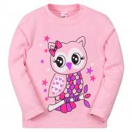 11-251245 Лонгслив для девочки, 80-98, розовый