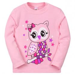 11-251245 Лонгслив для девочки, 2-5 лет, розовый