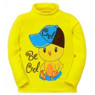 11-251314 Водолазка для мальчика, 2-5 лет, желтый