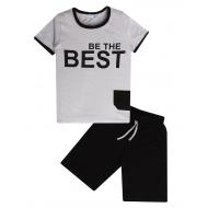 "11-253144 ""The Best"" Костюм для мальчика, 4-7 лет, серый"