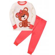 """11-258250 """"Cute bear"""" пижама для девочки, 2-5 лет, молочный\розовый"""