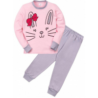 "11-258256 ""Зая"" пижама для девочки, 2-5 лет, розовый\меланж"