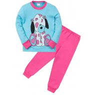 """11-258254 """"Spotted puppy"""" пижама для девочки, 2-5 лет, бирюзовый\розовый"""